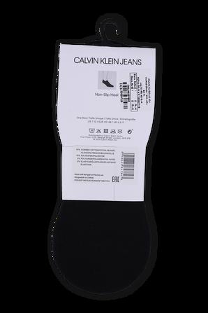 Black Monogram Logo Retro Liner Socks CALVIN KLEIN
