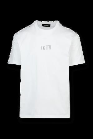 Mini Reflective Logo Tee in White DSQUARED2