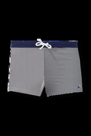 גילאי 2-10 בגד ים פסים בגזרה קצרה PETIT BATEAU