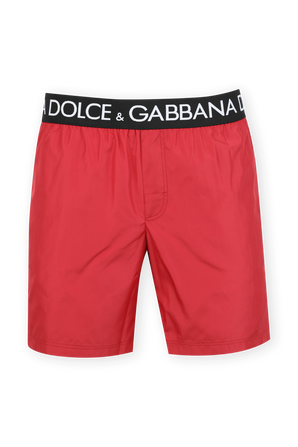 Mid Length Boxer Boardshorts in Red DOLCE & GABBANA