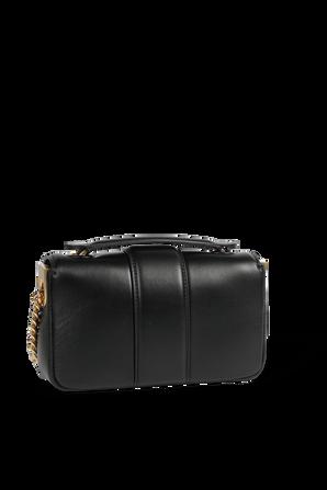 Mini Baguette Bag in Black Leather FENDI