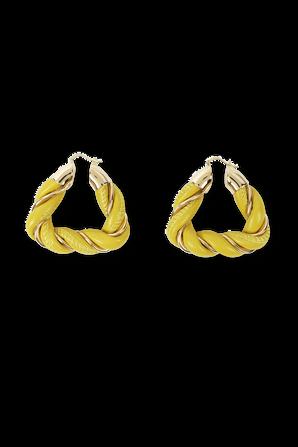 Triangle Earrings in Yellow and Gold BOTTEGA VENETA