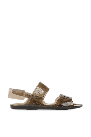 Jelly Sandal in Grey OFF WHITE