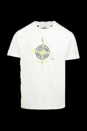 Stone Graphic T Shirt in White STONE ISLAND