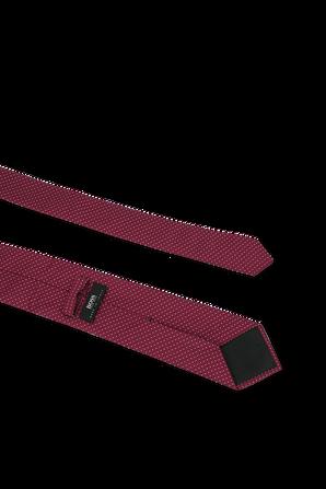 Silk Tie in Dark Pink  BOSS