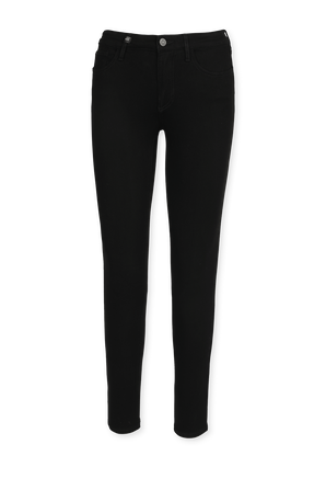 Mid Rise 5 Pockets Skinny Jeans in Black ARMANI EXCHANGE