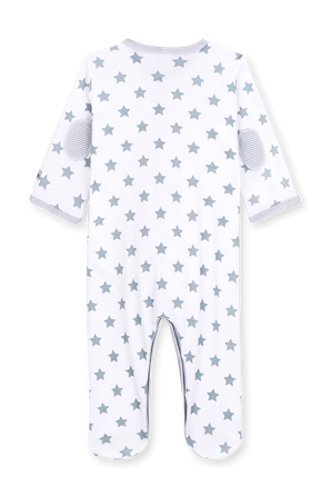 גילאי NB-12 חודשים בגד גוף ארוך בפרינט כוכבים PETIT BATEAU
