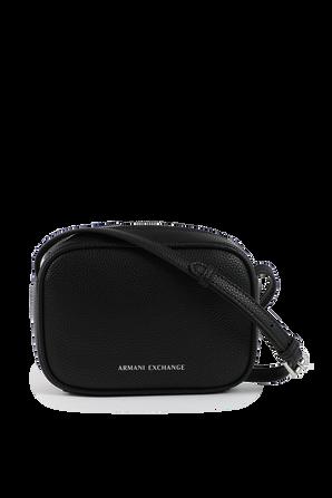 Mini Shoulder in Black Leather ARMANI EXCHANGE