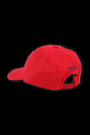כובע בייסבול עם לוגו באדום POLO RALPH LAUREN KIDS