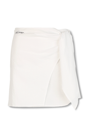 Signature Mini Skirt in White TOMMY HILFIGER