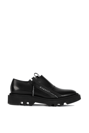 Combat Zipped Derby in Black GIVENCHY