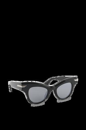 Cat-Eye Sunglasses in Black BOTTEGA VENETA