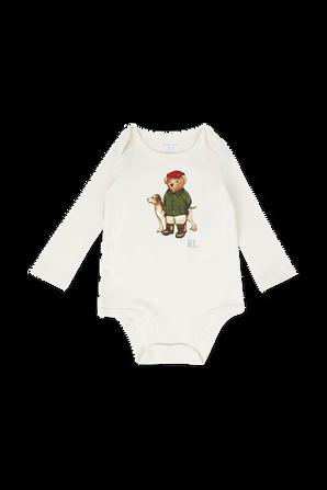 גילאי NB-9 חודשים מארז שני בגדי גוף ארוכים עם הדפסים POLO RALPH LAUREN KIDS