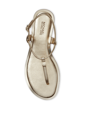 Glitter Chain-Mesh Sandal in Gold MICHAEL KORS