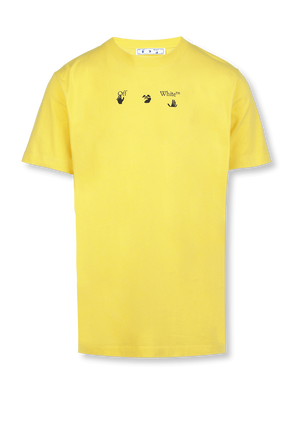 Bolt Arrows Slim Fit Tee in Yellow OFF WHITE