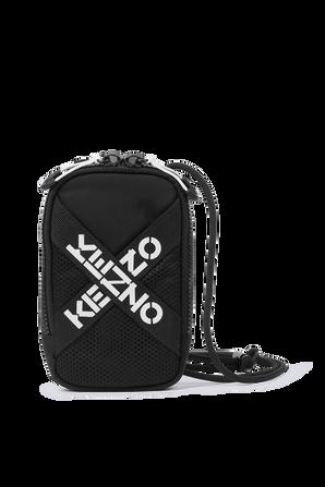 Sport Crossbody Phone Holder in Black KENZO