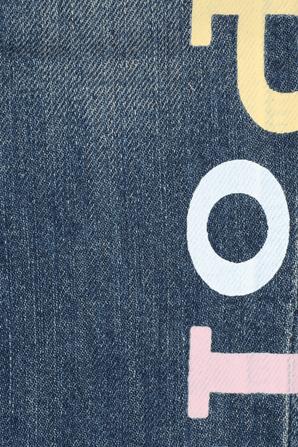גילאי 2-4 מכנסי ג'ינס בשטיפה בינונית עם כיתוב פולו POLO RALPH LAUREN KIDS