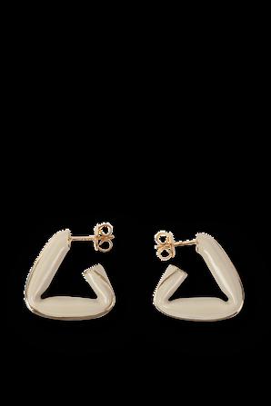 Triangle Earrings in Beige and Gold BOTTEGA VENETA