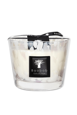Max 10 White Pearls Candle BAOBAB
