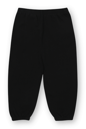 גילאי 2-10 מכנסי גוגר בצבע שחור עם לוגו לבן BALENCIAGA KIDS