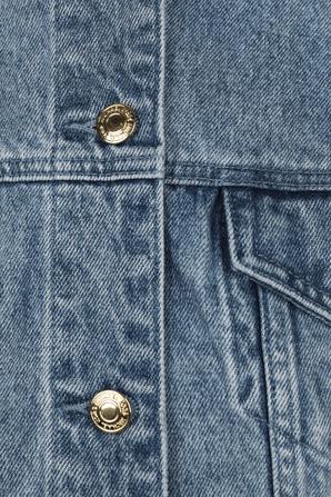 Fitted Denim Jacket in Light Blue MICHAEL KORS