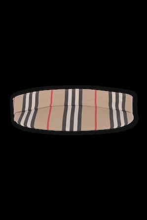 Icon Stripe Visor in Archive Beige BURBERRY