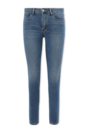 721 High Rise Skinny Jeans in Mid Blue Wash LEVI`S