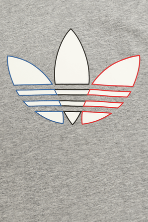 חולצת תלתן לוגו באפור ADIDAS ORIGINALS