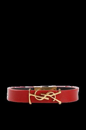 Opyum Bracelet Leather in Rouge SAINT LAURENT