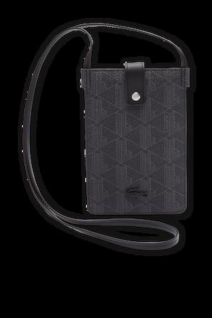The Blend Monogram Canvas Smartphone Pouch LACOSTE