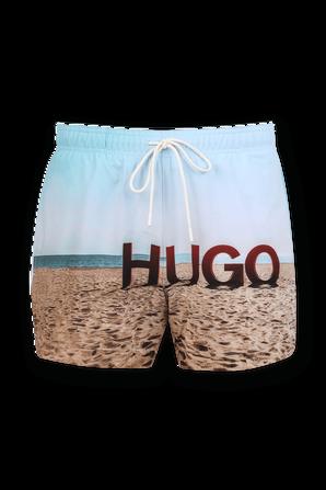 Beach Print Boardshorts in Multicolor HUGO