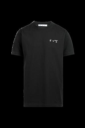 Logo Print Crew Neck T-Shirt in Black OFF WHITE