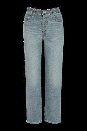 מכנסי ג'ינס ישרים גבוהים בשטיפה בינונית LEVI`S