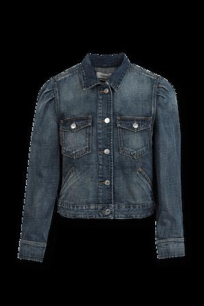 Bolinea Denim Button Down Jacket in Dark Indigo ISABEL MARANT