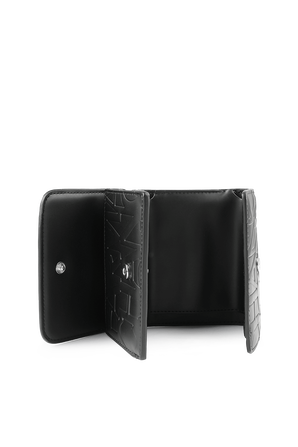 Logomania Small Wallet in Black ARMANI EXCHANGE