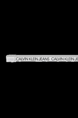 חגורת לוגו בלבן CALVIN KLEIN