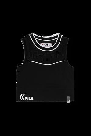 גילאי 6-16 סט הכולל גופייה וחצאית עם לוגו בשחור FILA
