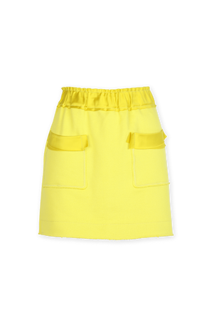 Organic Cotton Mini Skirt in Yellow AZ FACTORY