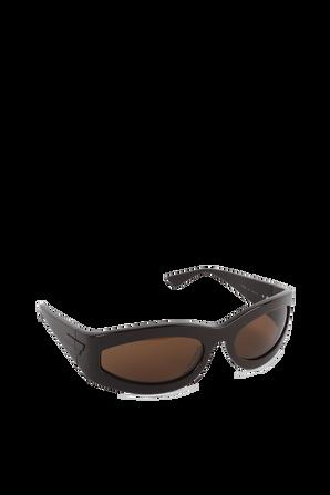 Rectangular Frame Sunglasses in Brown BOTTEGA VENETA