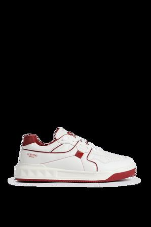 נעלי סניקרס עם לוגו צדדי בצבע לבן VALENTINO