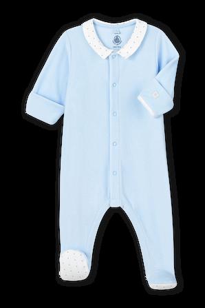 אוברול שינה בצבע כחול PETIT BATEAU