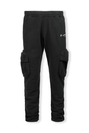 Cargo Sweatpants in Black OFF WHITE