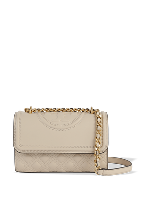 Fleming Small Convertible Shoulder Bag in Beige TORY BURCH