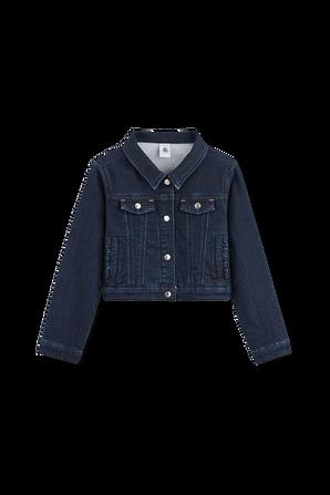 גילאי 2-10 ז'קט ג'ינס קלאסי בכחול כהה PETIT BATEAU