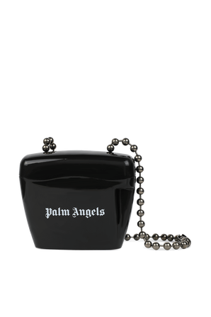 Mini Black Padlock Bag in Black PALM ANGELS