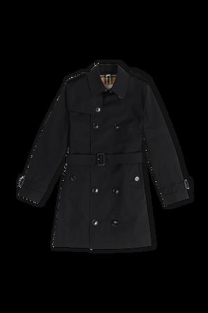 גילאי 4-14 מעיל טרנץ אייקוני בשחור BURBERRY