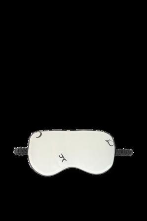 Silk Eye Mask in Cream OLIVIA VON HALLE