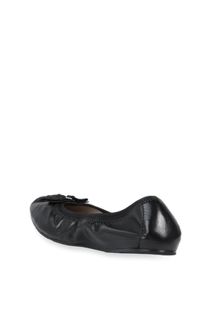 Foldaway Ballet Flat in Black SALVATORE FERRAGAMO