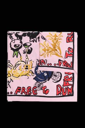 Free To Run Silk Scarf in Pink  AZ FACTORY