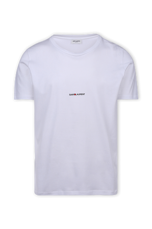 Tiny Logo T-Shirt In White SAINT LAURENT